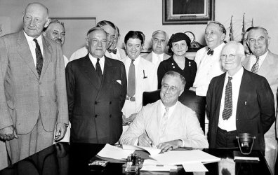 Perkins with FDR and Cabinet